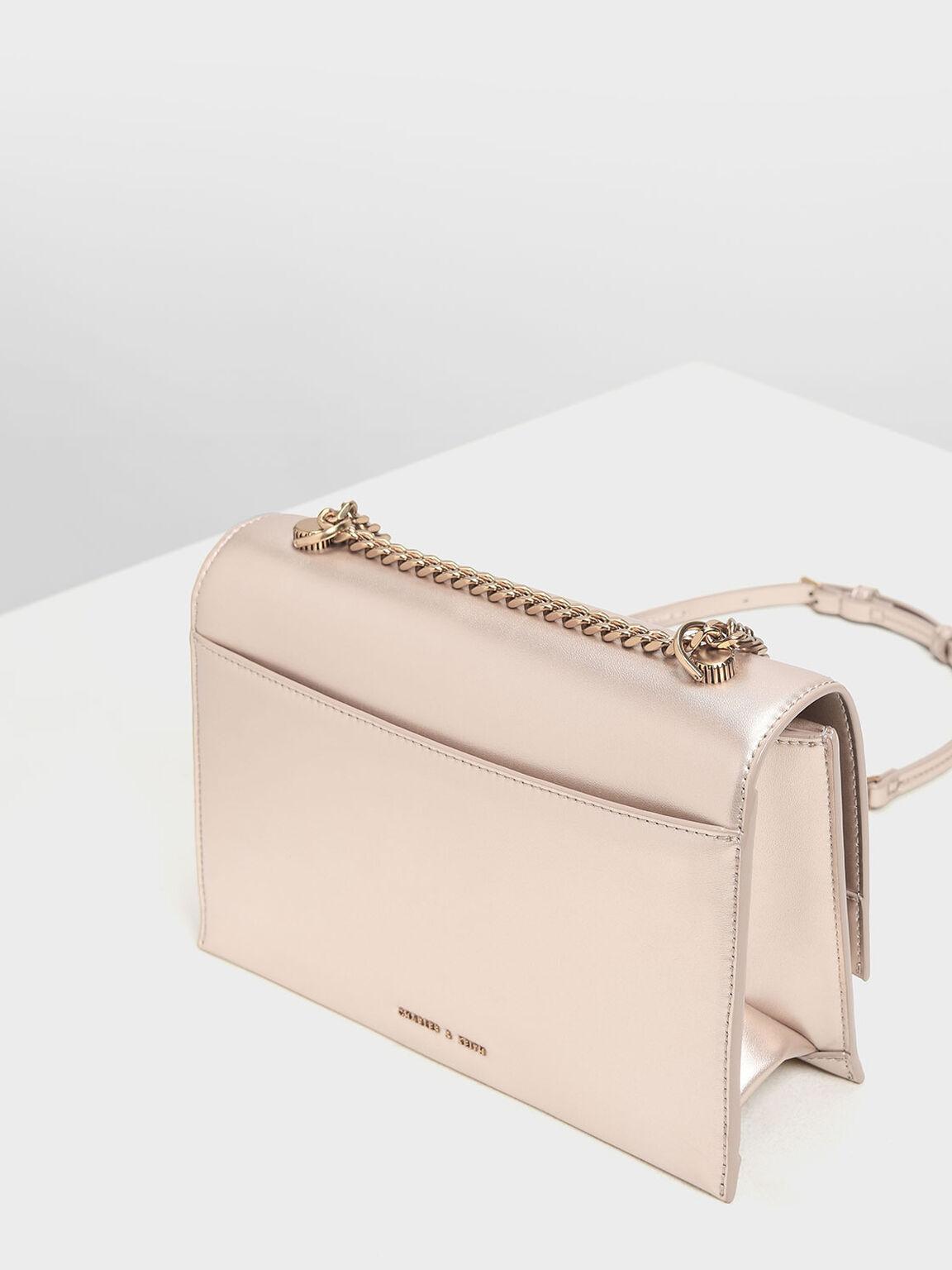 Classic Push Lock Bag, Rose Gold, hi-res
