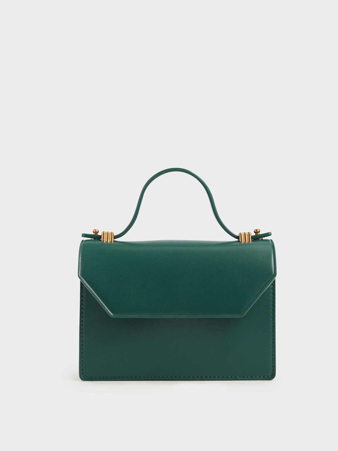 Mini Top Handle Clutch, Dark Green, hi-res