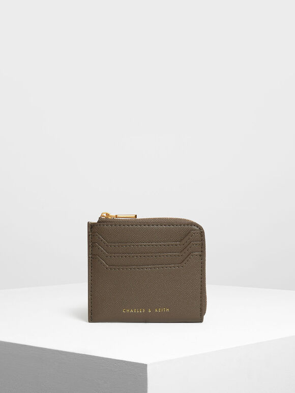 Casual Zip Pouch, Olive, hi-res