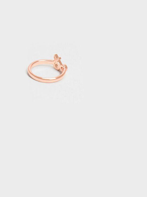 Ampersand Ring, Rose Gold, hi-res