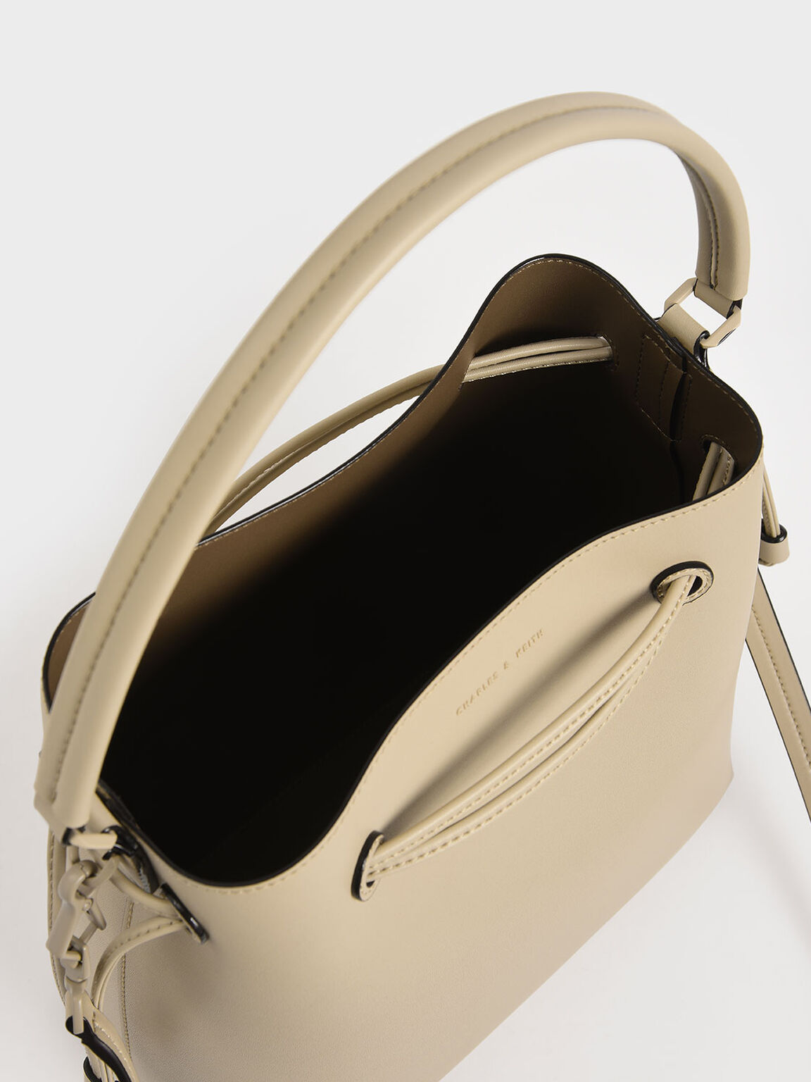 Drawstring Hobo Bag, Ivory, hi-res