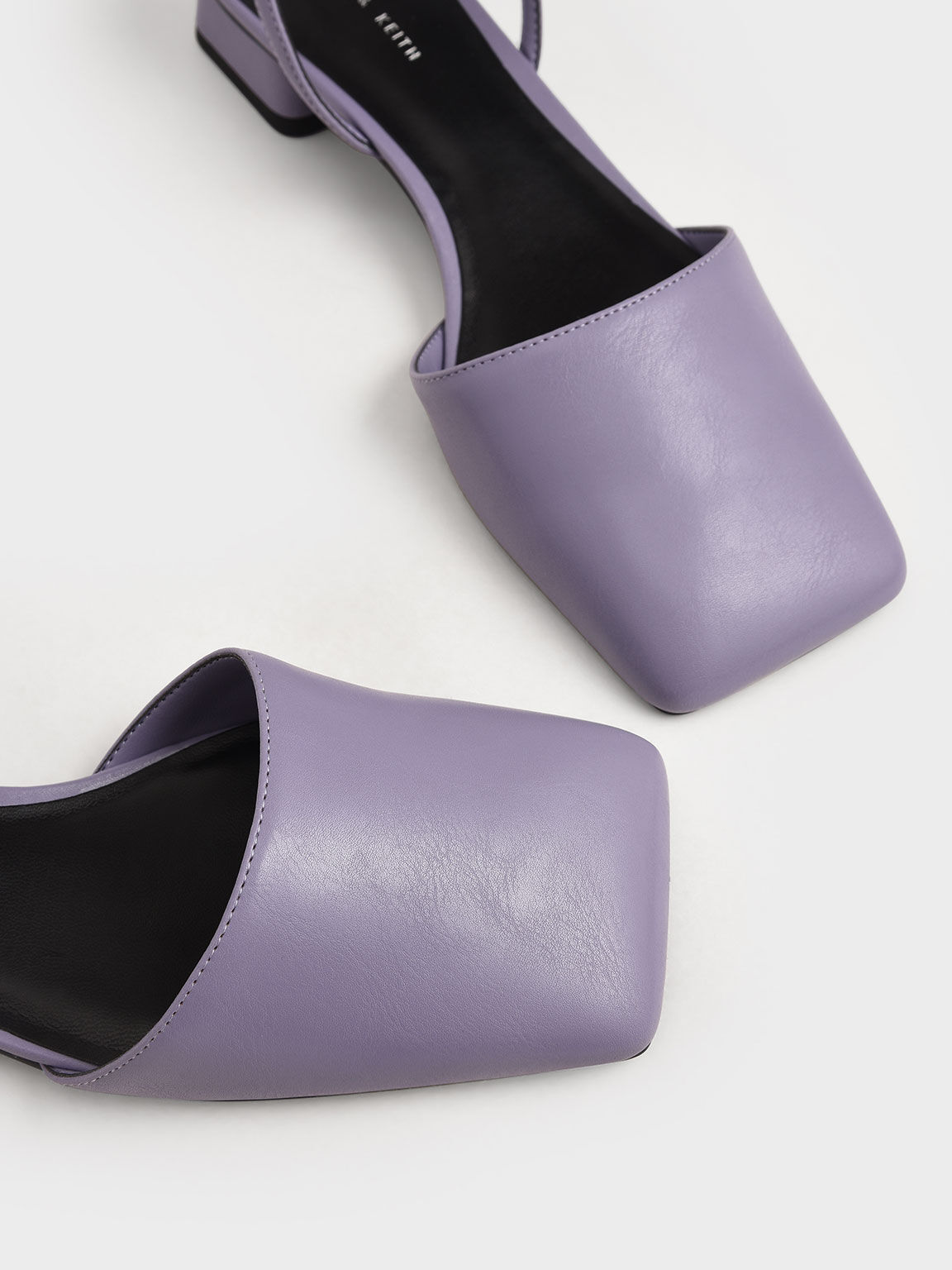Square Toe Ankle Strap Pumps, Lilac, hi-res