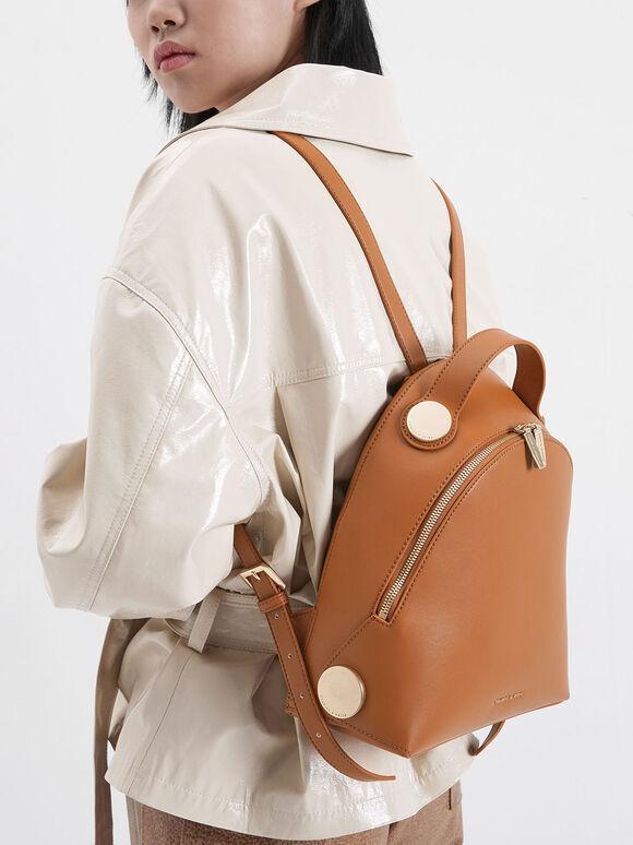 Large Dome Backpack, Tan, hi-res