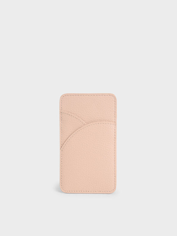 Elongated Card Holder, Pink, hi-res