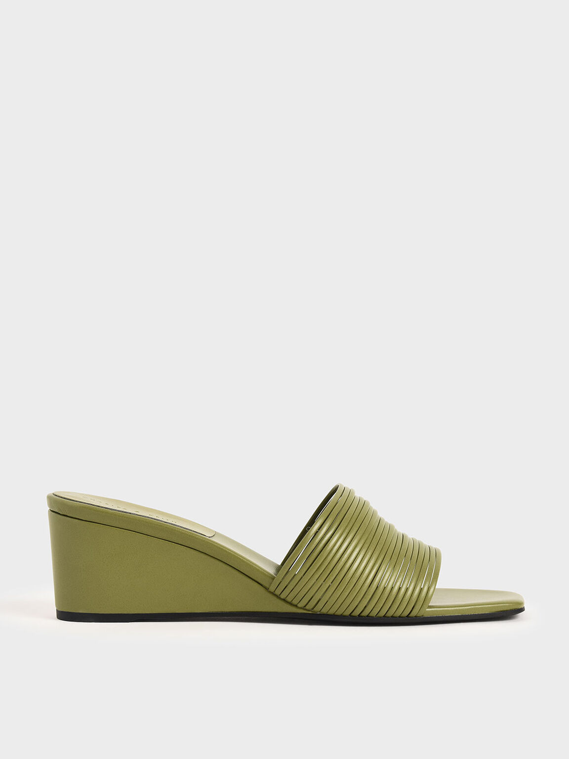 Strappy Wedges, Green, hi-res