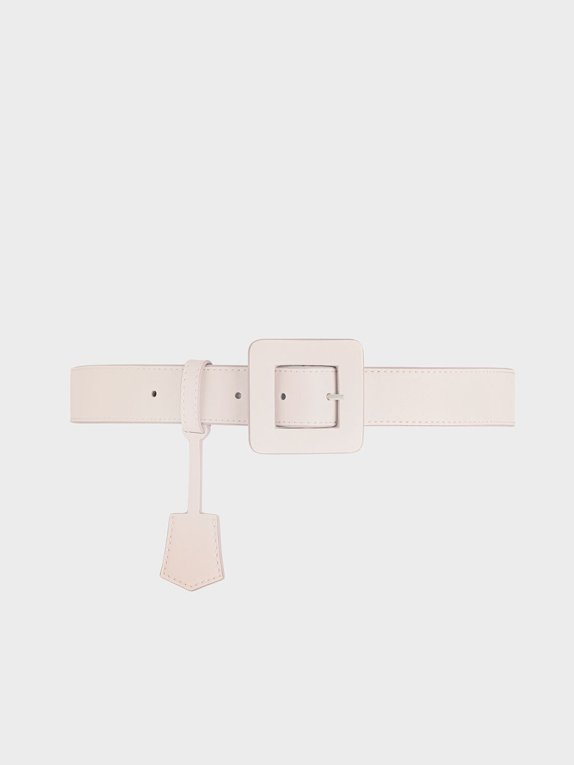 Oversized Buckle Belt, Pink, hi-res