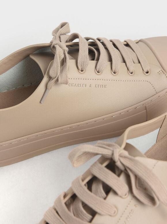 Platform Sneakers, Nude, hi-res