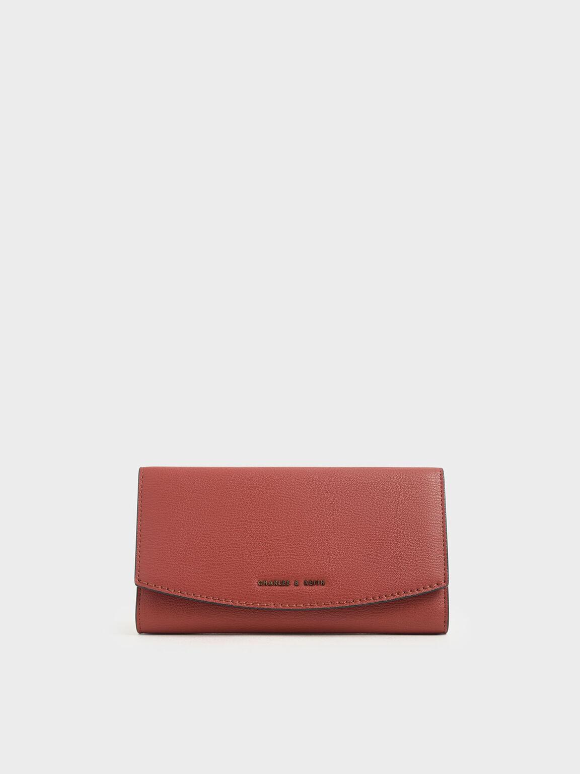 Mini Front Flap Long Wallet, Clay, hi-res