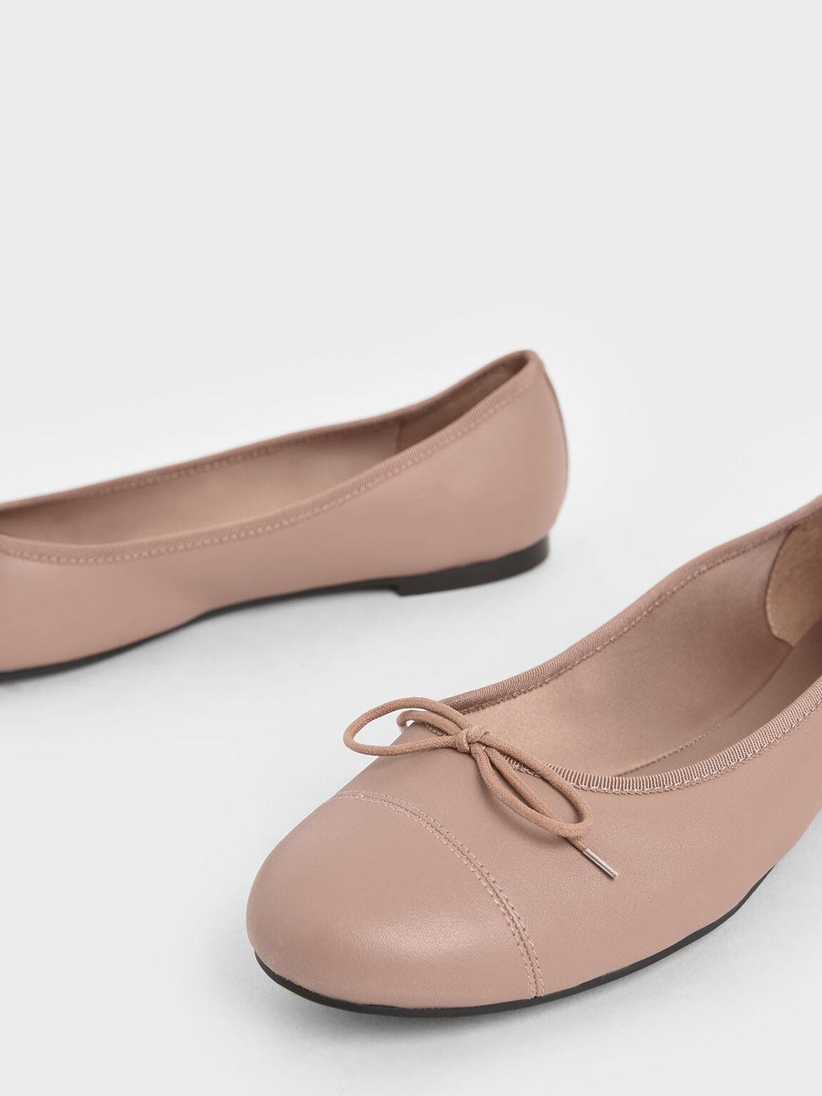 蝴蝶結平底鞋, 粉紅色, hi-res