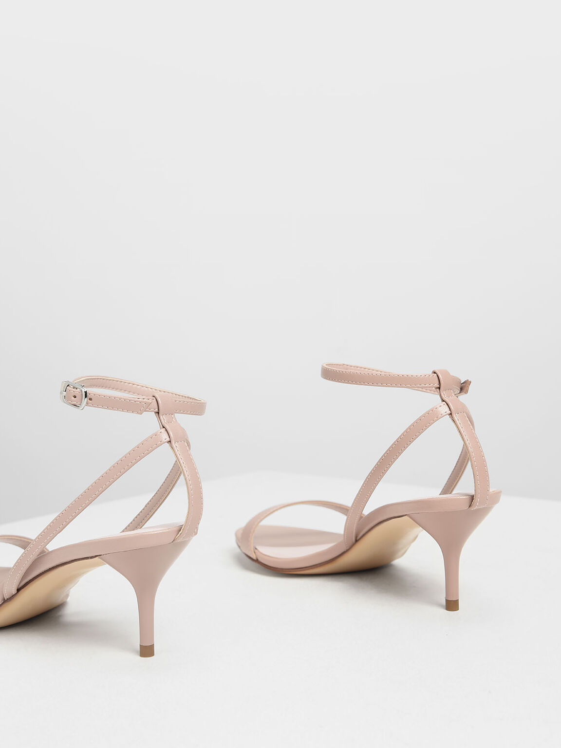 Classic Ankle Strap Sandals, Nude, hi-res
