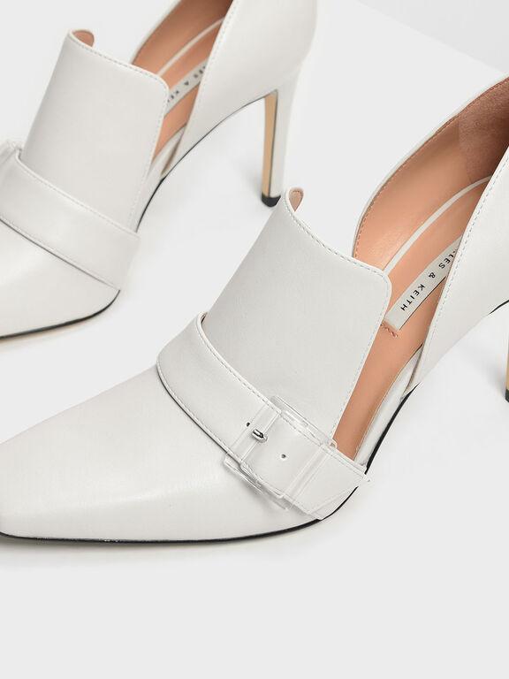 Extended Topline D'Orsay Heels, Chalk, hi-res