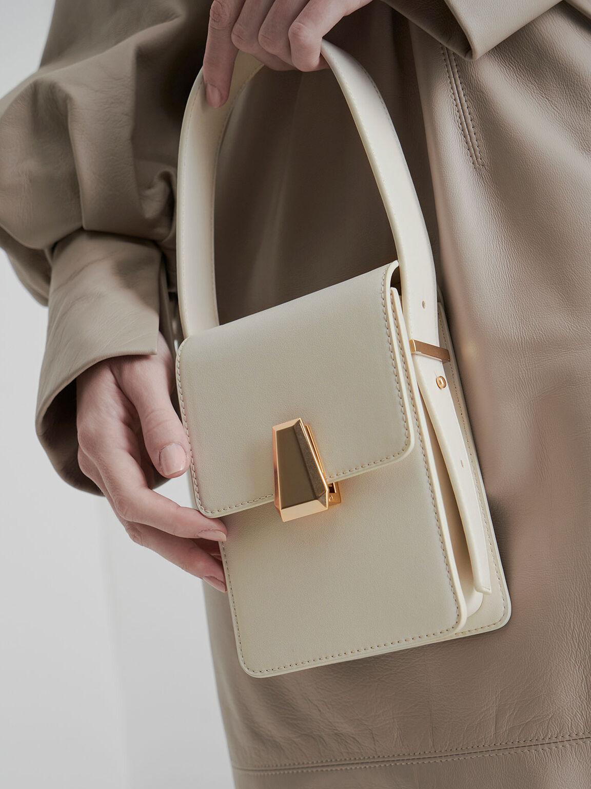 復古長型手提包, 石灰白, hi-res