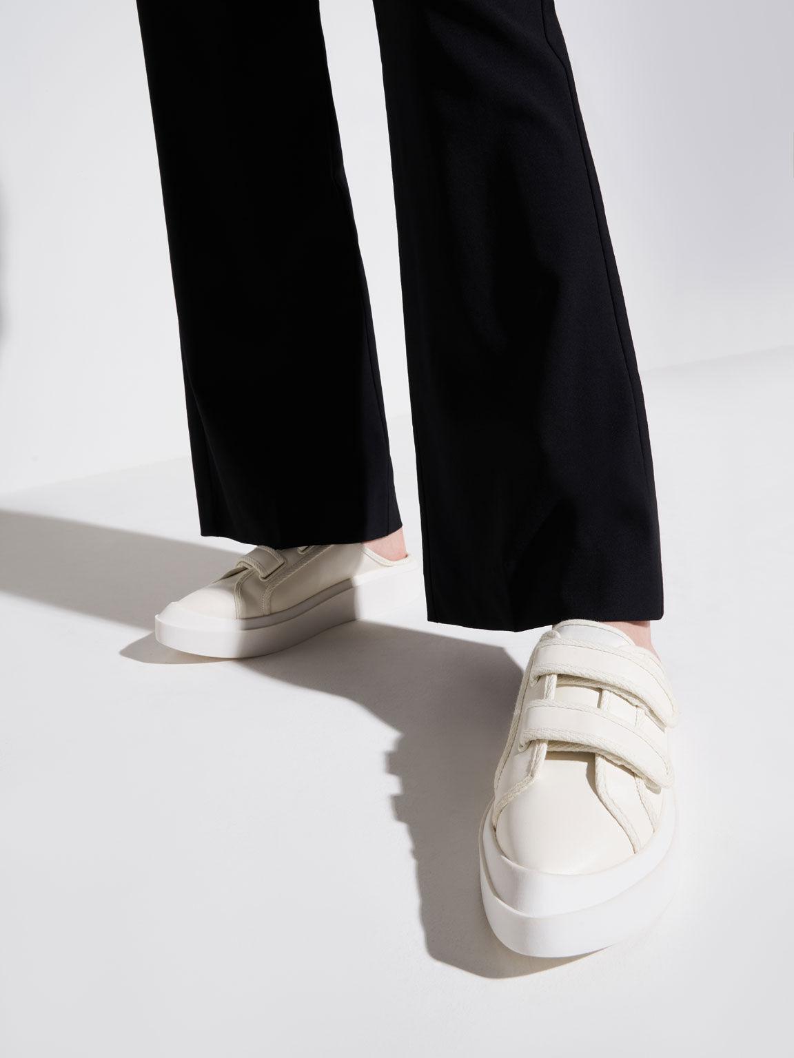 Velcro Sneaker Mules, Chalk, hi-res