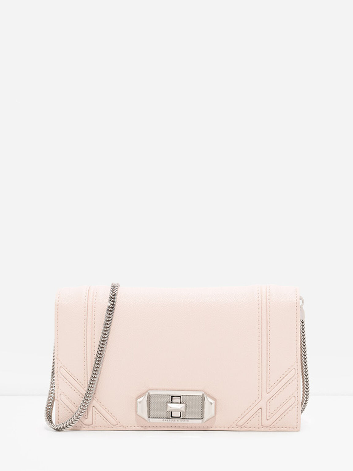 Turn-Lock Wallet, Light Pink, hi-res