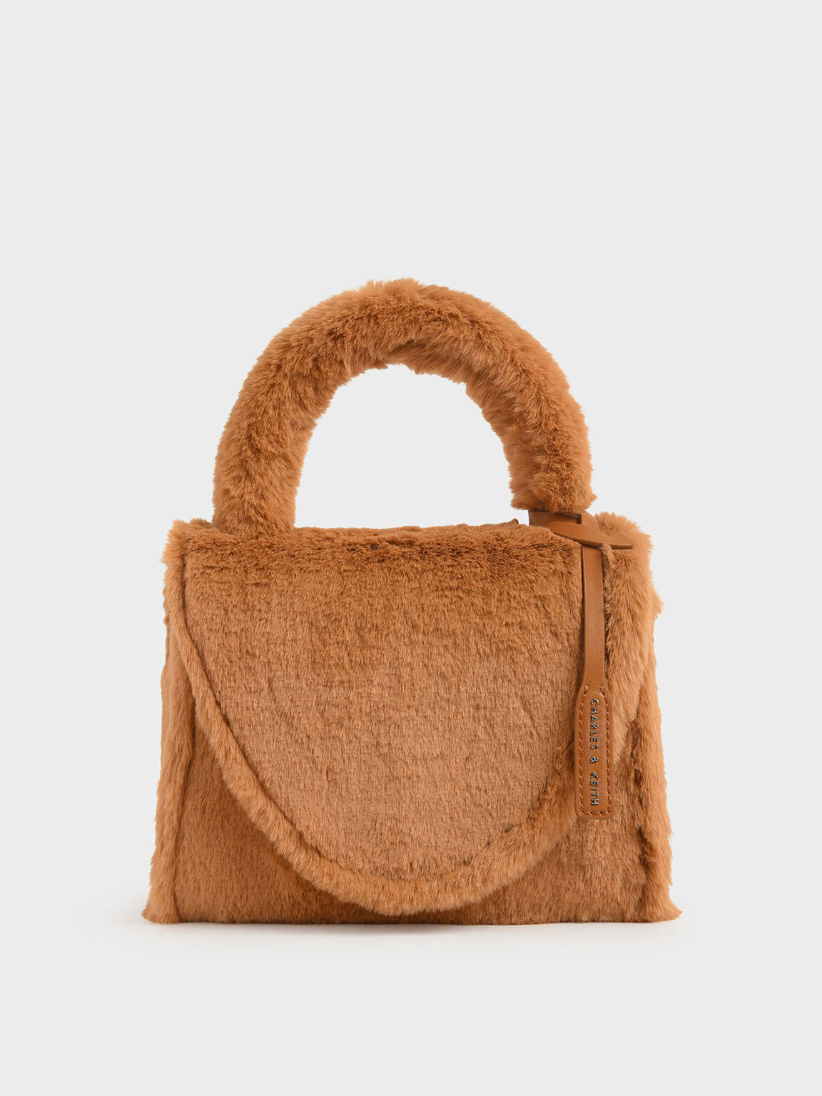 Textured Structured Bag, Tan, hi-res