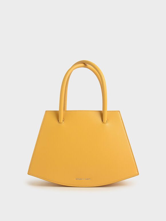 Curved Tote Bag, Yellow, hi-res