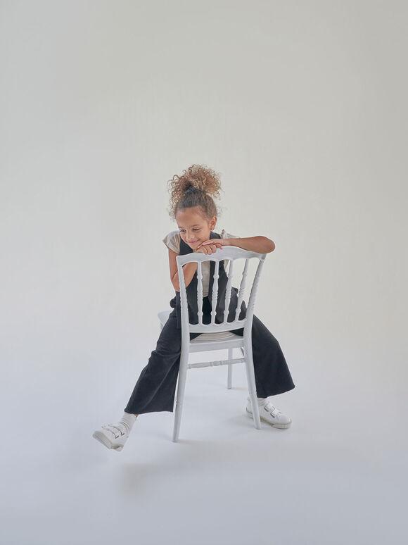 實踐系列:兒童魔術氈餅乾鞋, 白色, hi-res