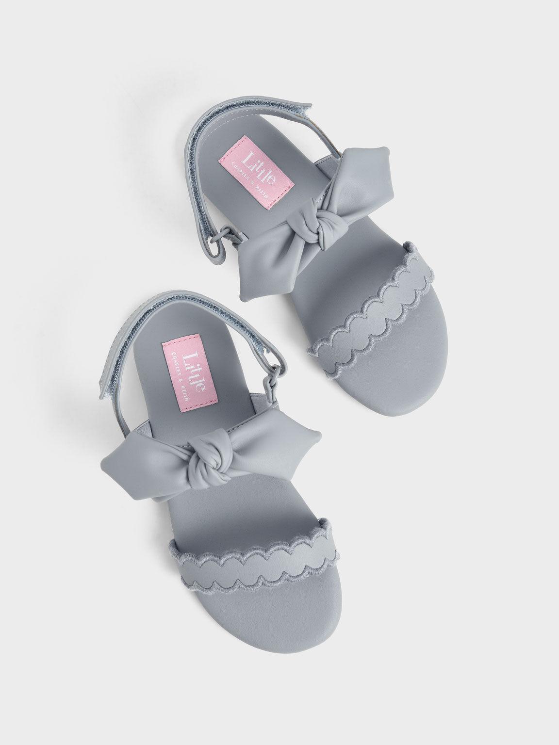 兒童扭結瑪莉珍涼鞋, 淺藍色, hi-res
