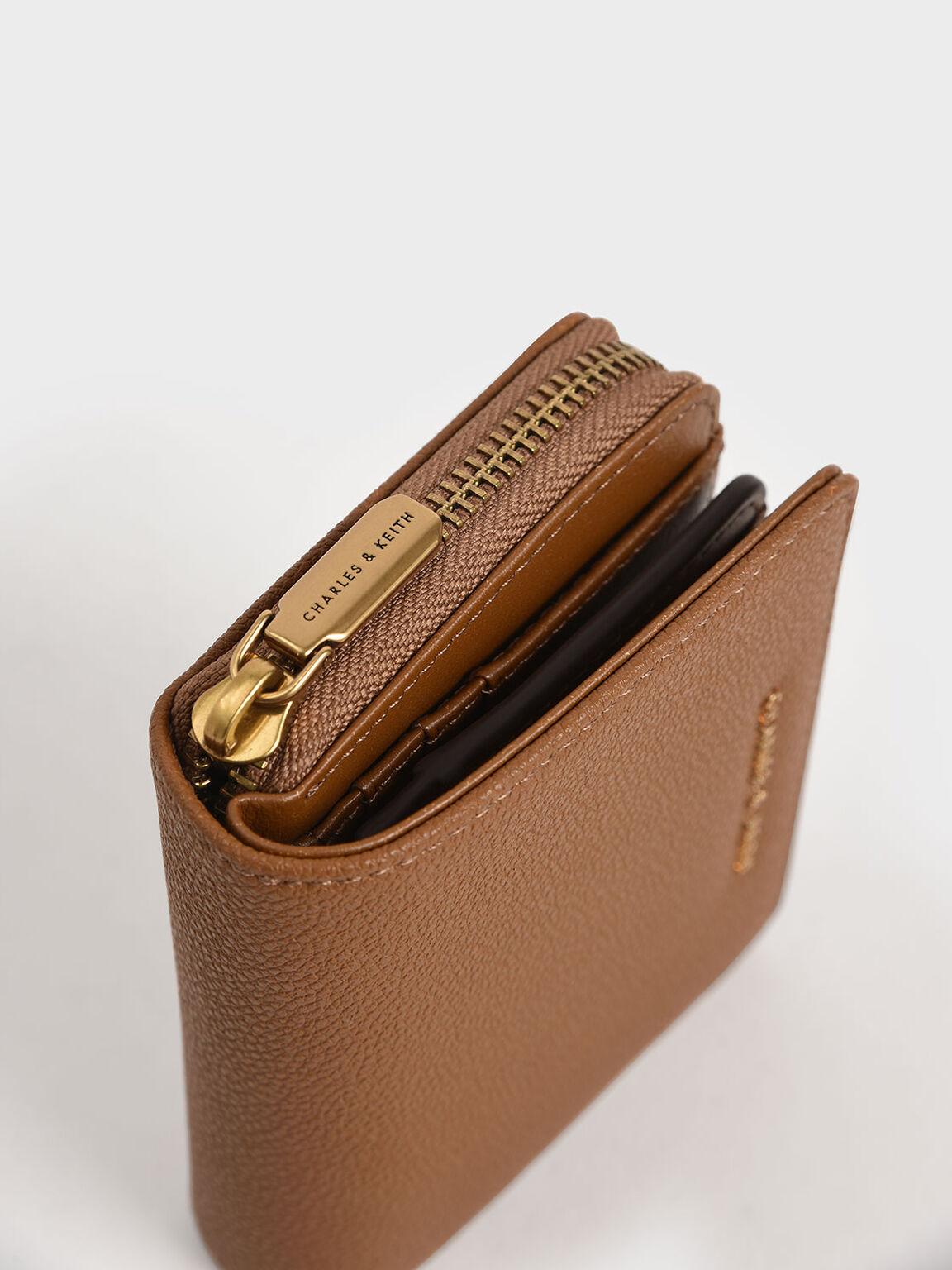Small Zip-Around Wallet, Camel, hi-res