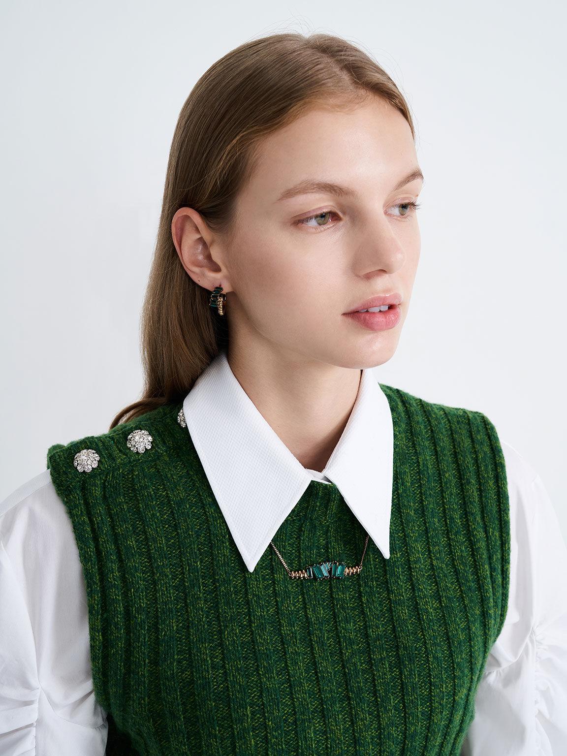 施華洛世奇®水晶項鍊, 綠色, hi-res