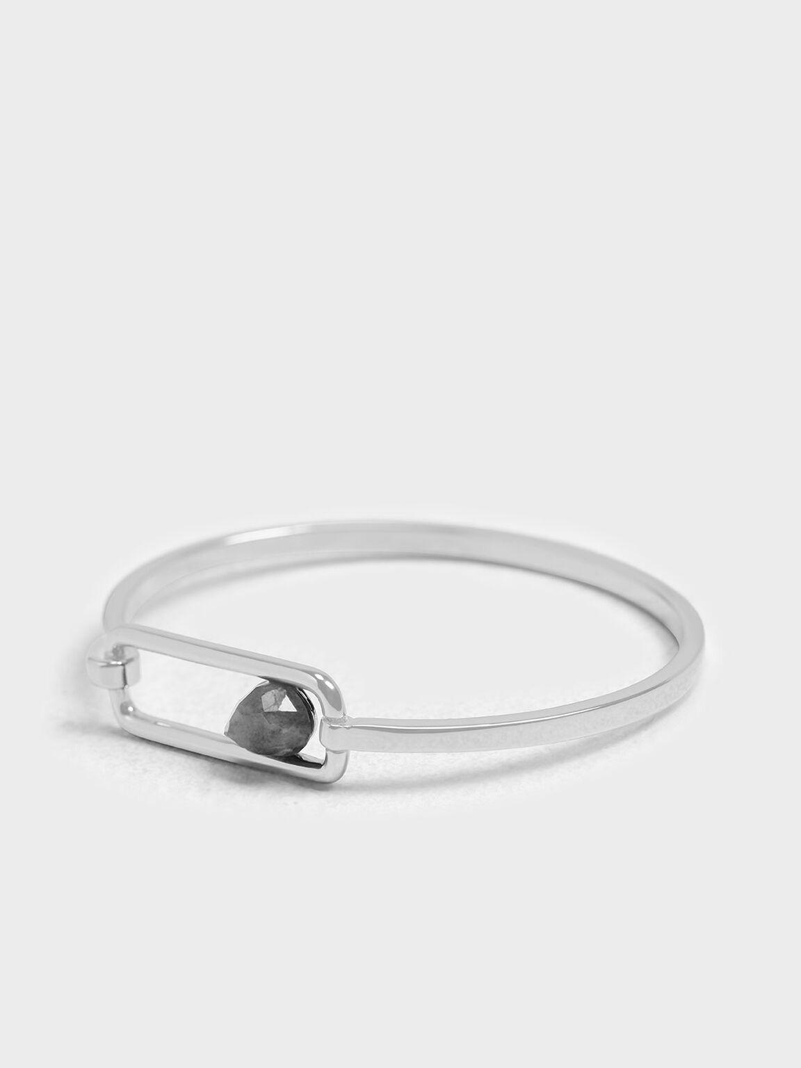 Labradorite Bangle, Silver, hi-res