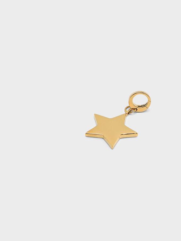 Gold Star Keychain, Gold