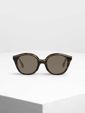 Metallic Accent Cat Eye Shades, T. Shell