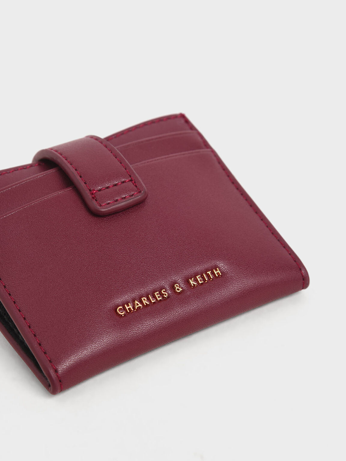扣式票卡夾, 深紫紅, hi-res
