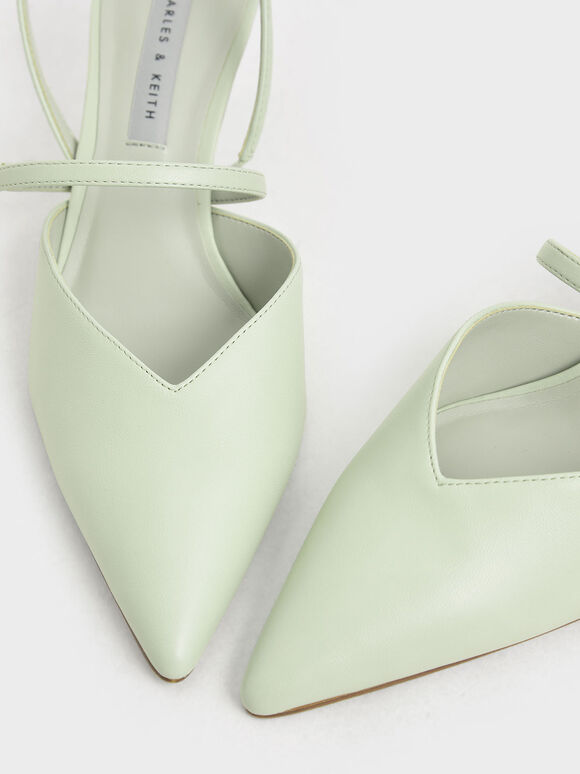 Geometric Heel Mary Janes, Mint Green, hi-res