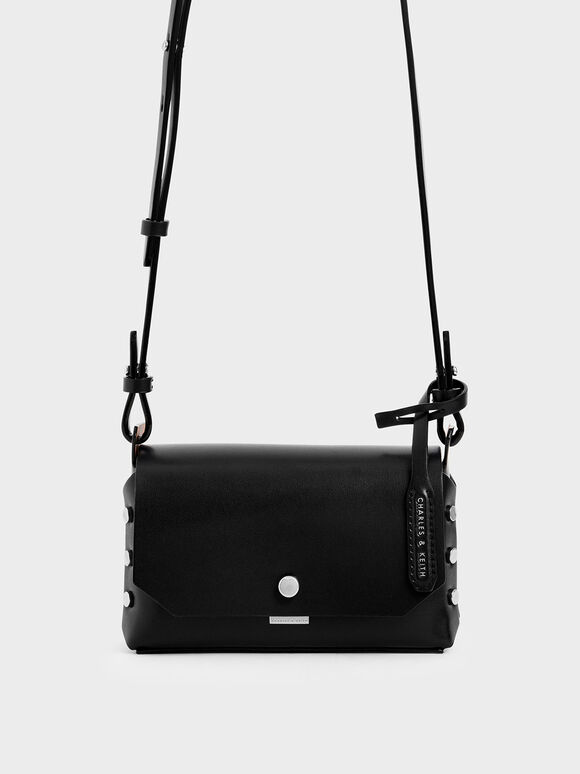 Mini Reversible Front Flap Crossbody Bag, Black, hi-res