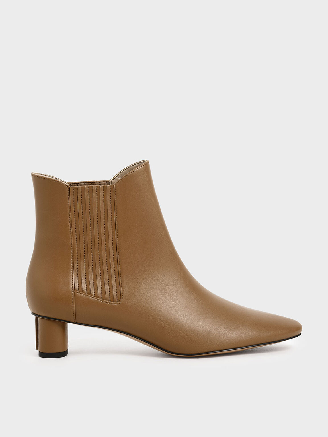 Cylindrical Heel Chelsea Boots, Camel, hi-res