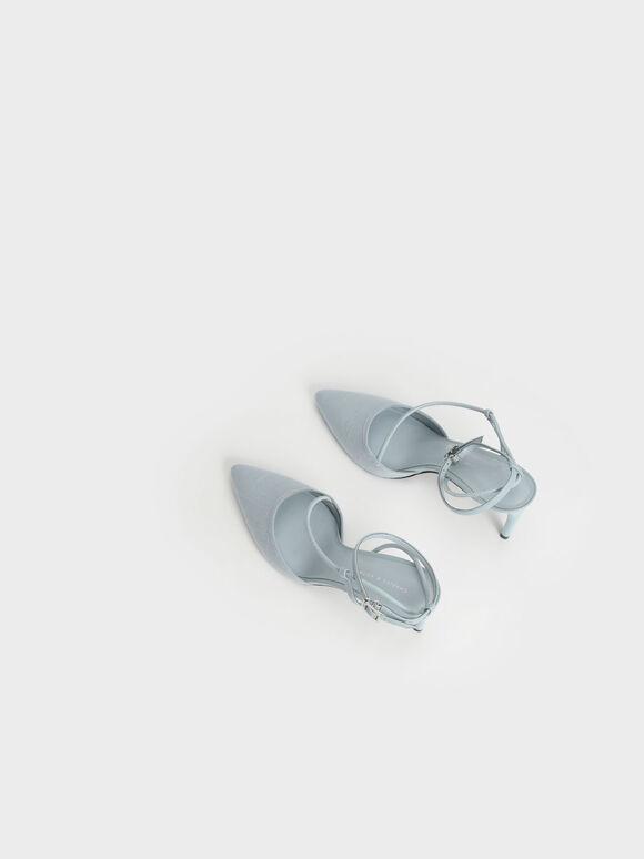 리넨 애스메트릭 펌프스, 라이트 블루, hi-res