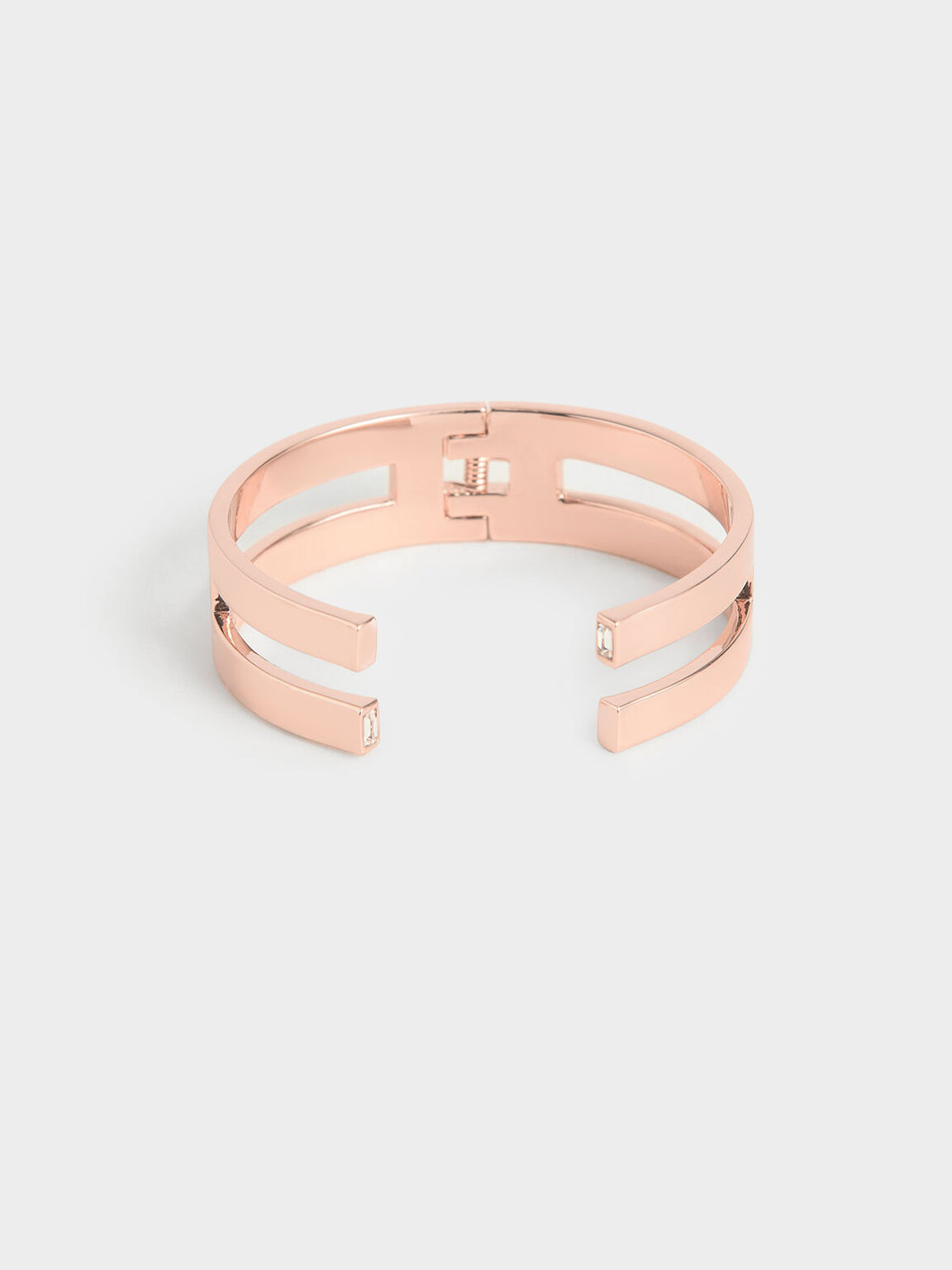Swarovski® Crystal Double Cuff Bracelet, Rose Gold, hi-res