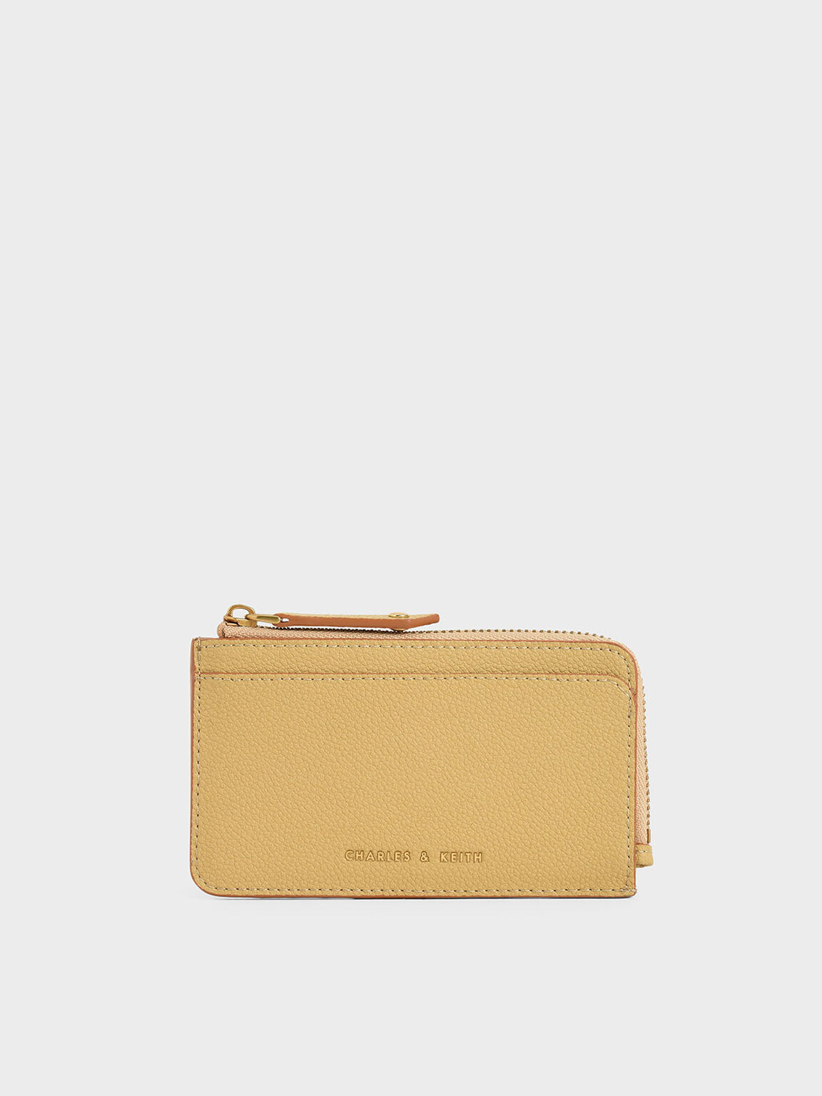 Zip Card Holder, Yellow, hi-res