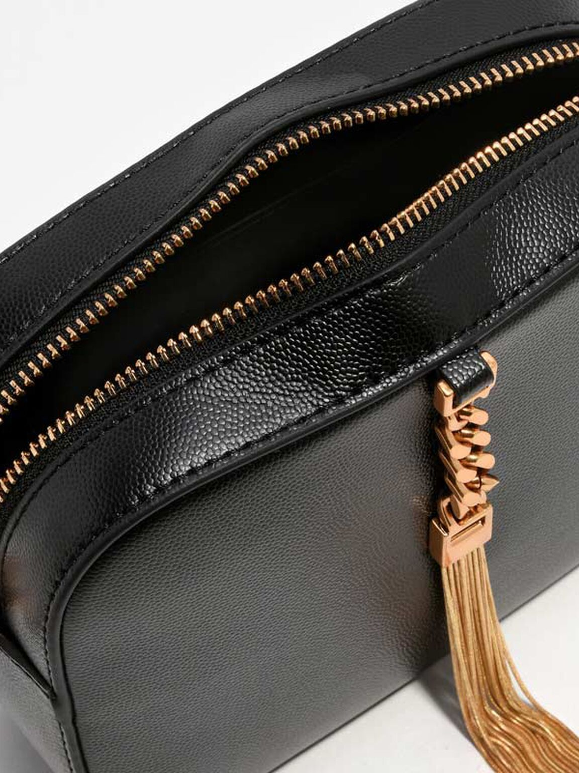 Tassel Clutch, Black, hi-res