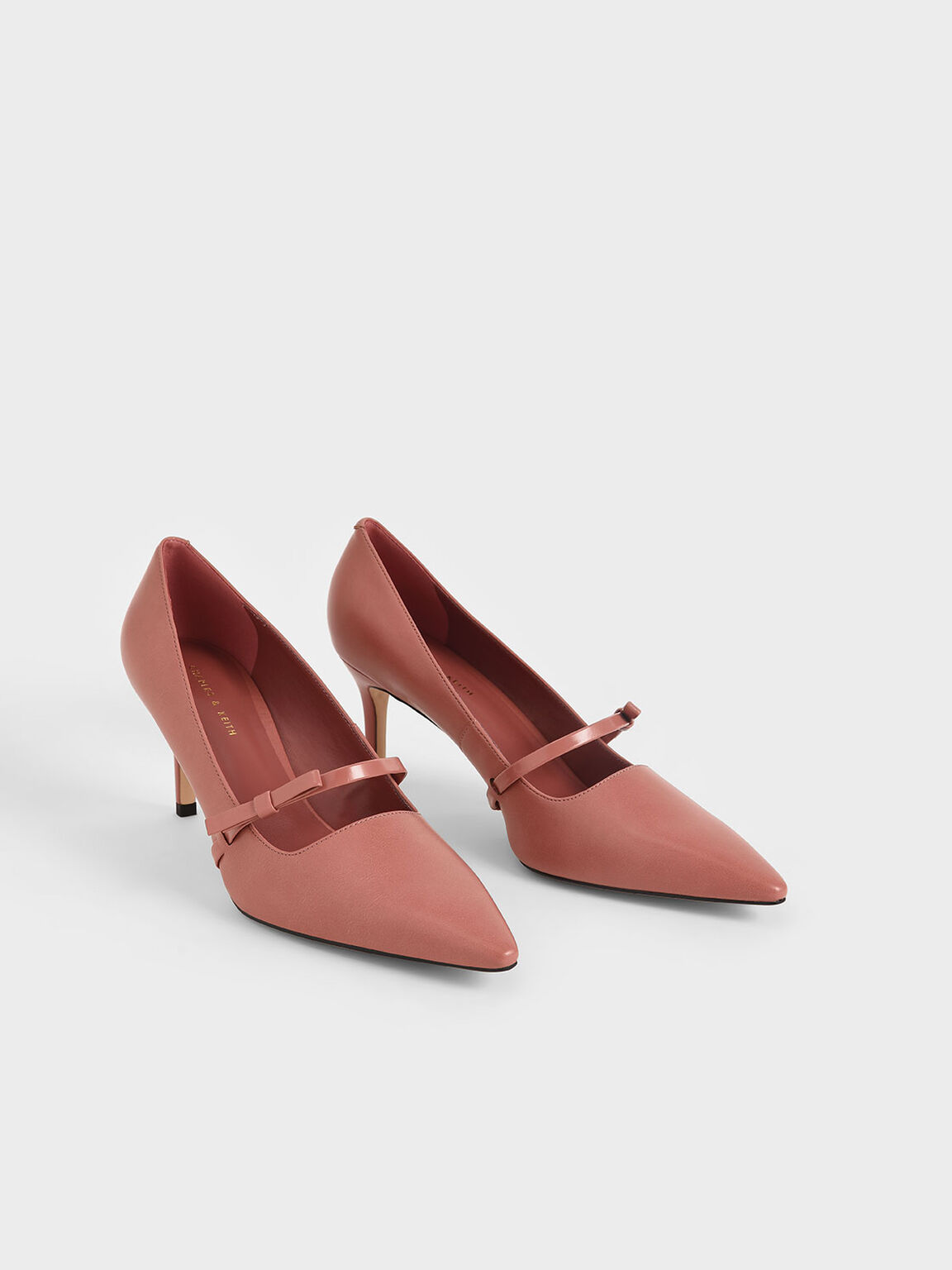Mary Jane Stiletto Heel Pumps, Pink, hi-res