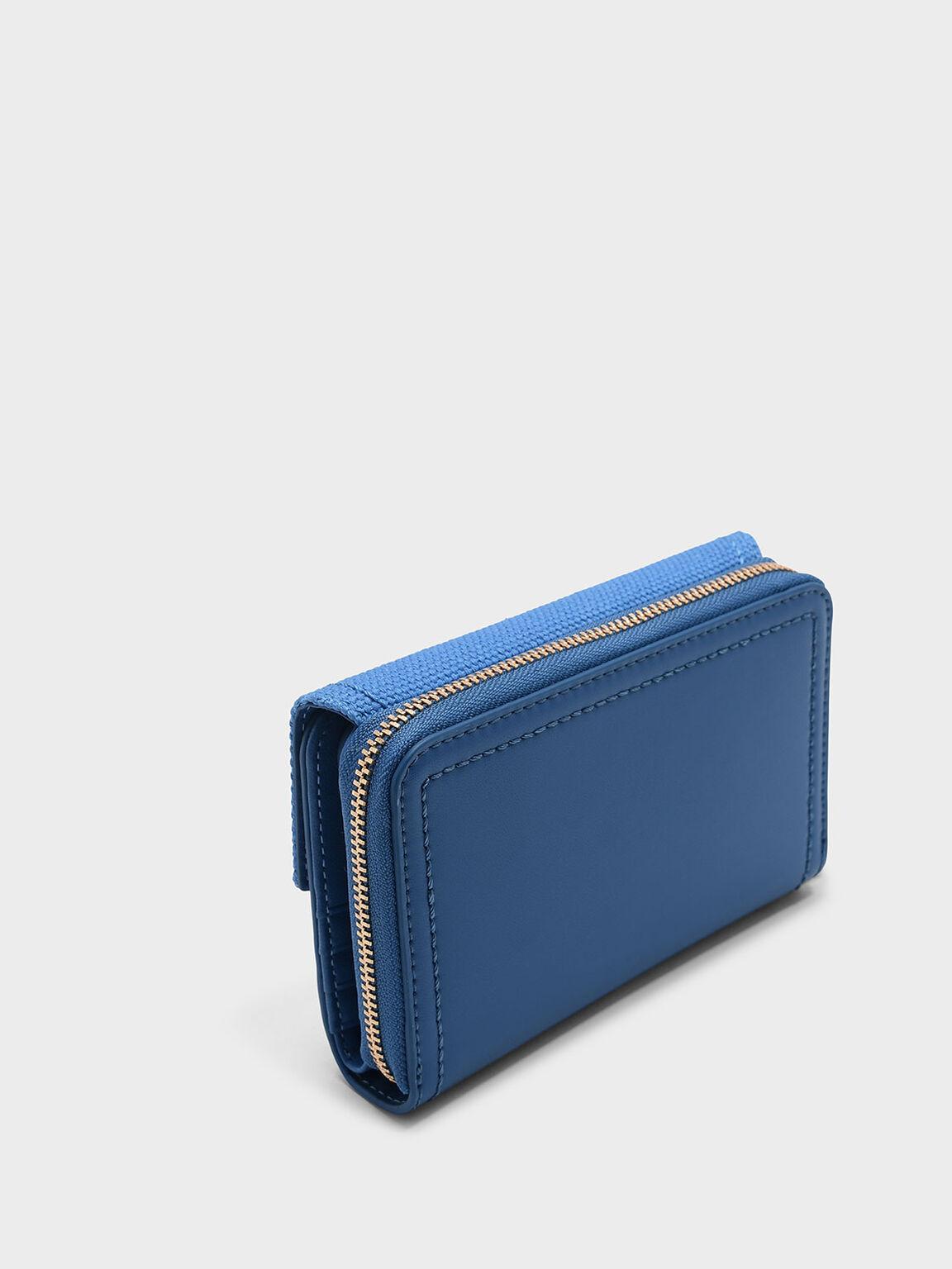 Envelope Small Wallet, Blue, hi-res