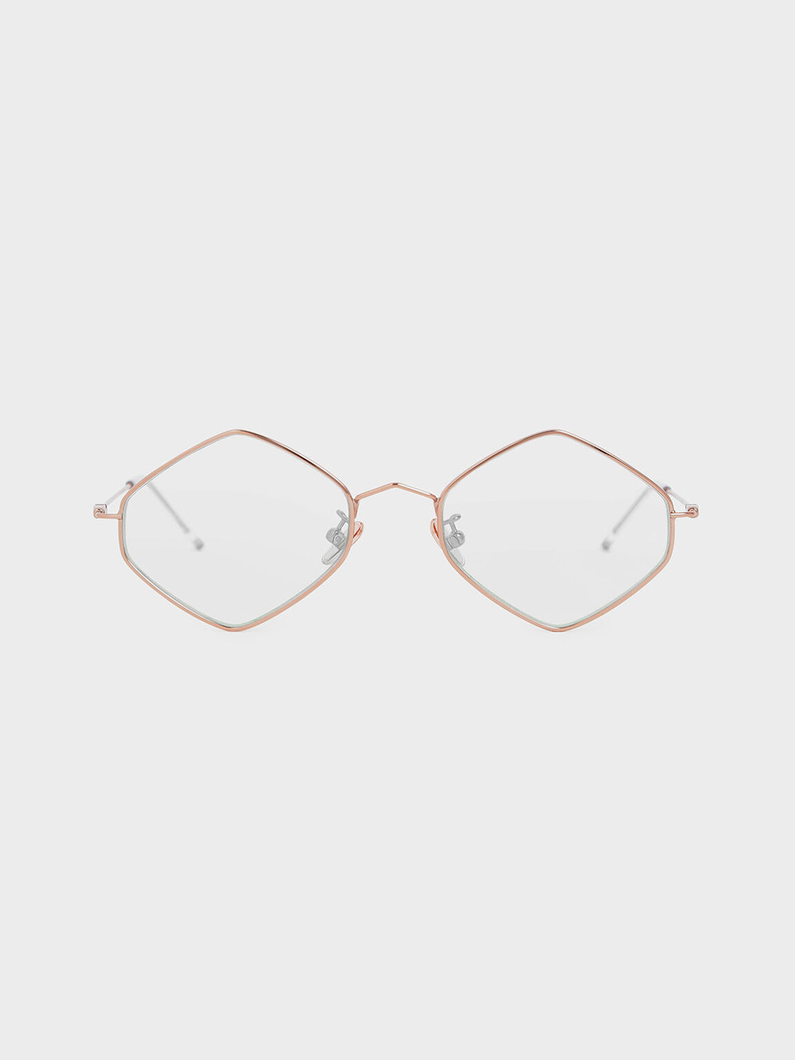 金屬幾何框墨鏡, 粉紅色, hi-res