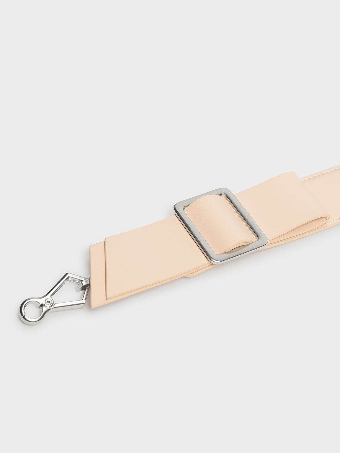 Buckled Bow Detail Mini Strap, Pink, hi-res