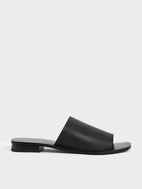 Slide Sandals, Black, hi-res