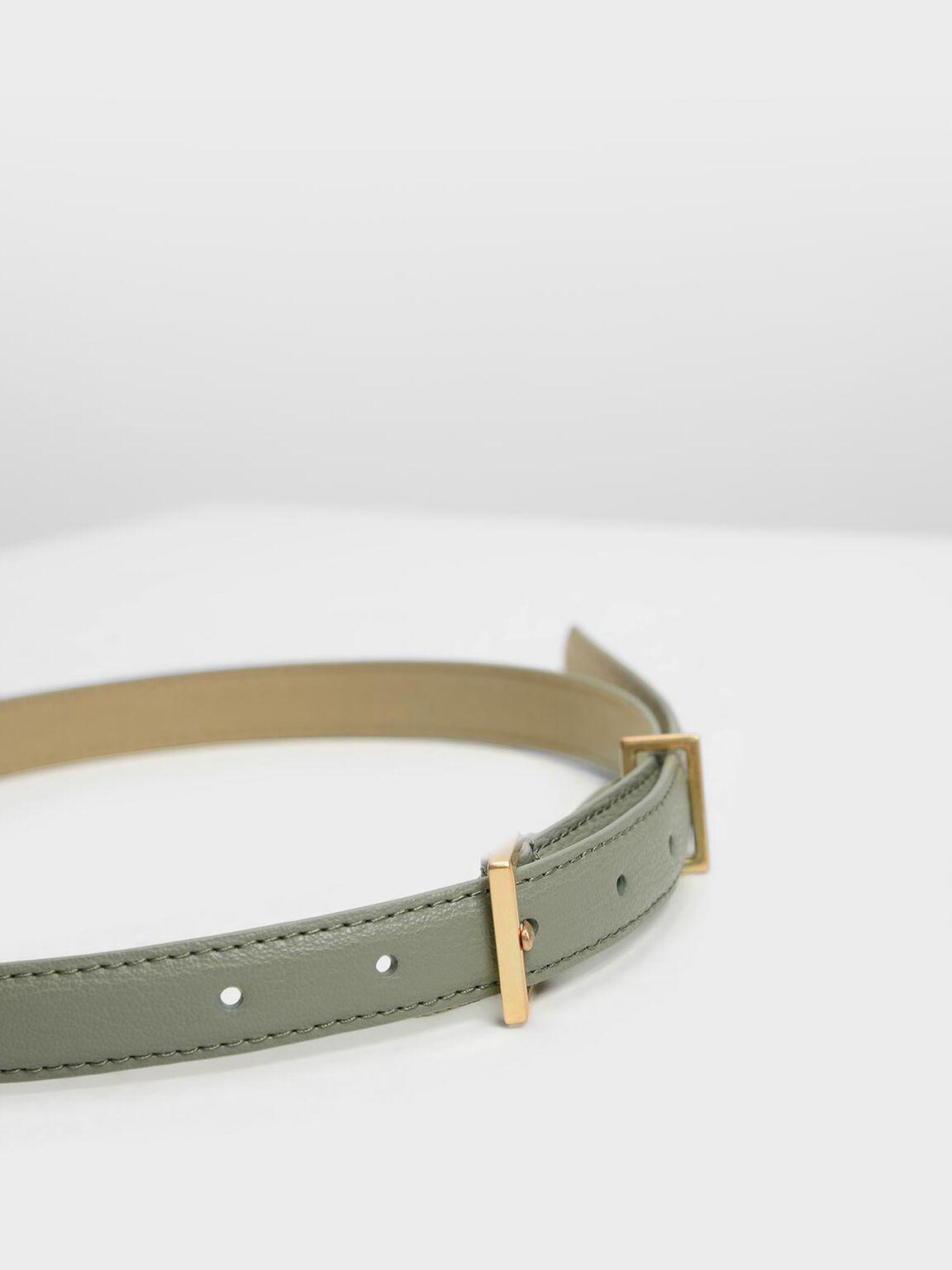 Chain Link Belt, Sage Green, hi-res