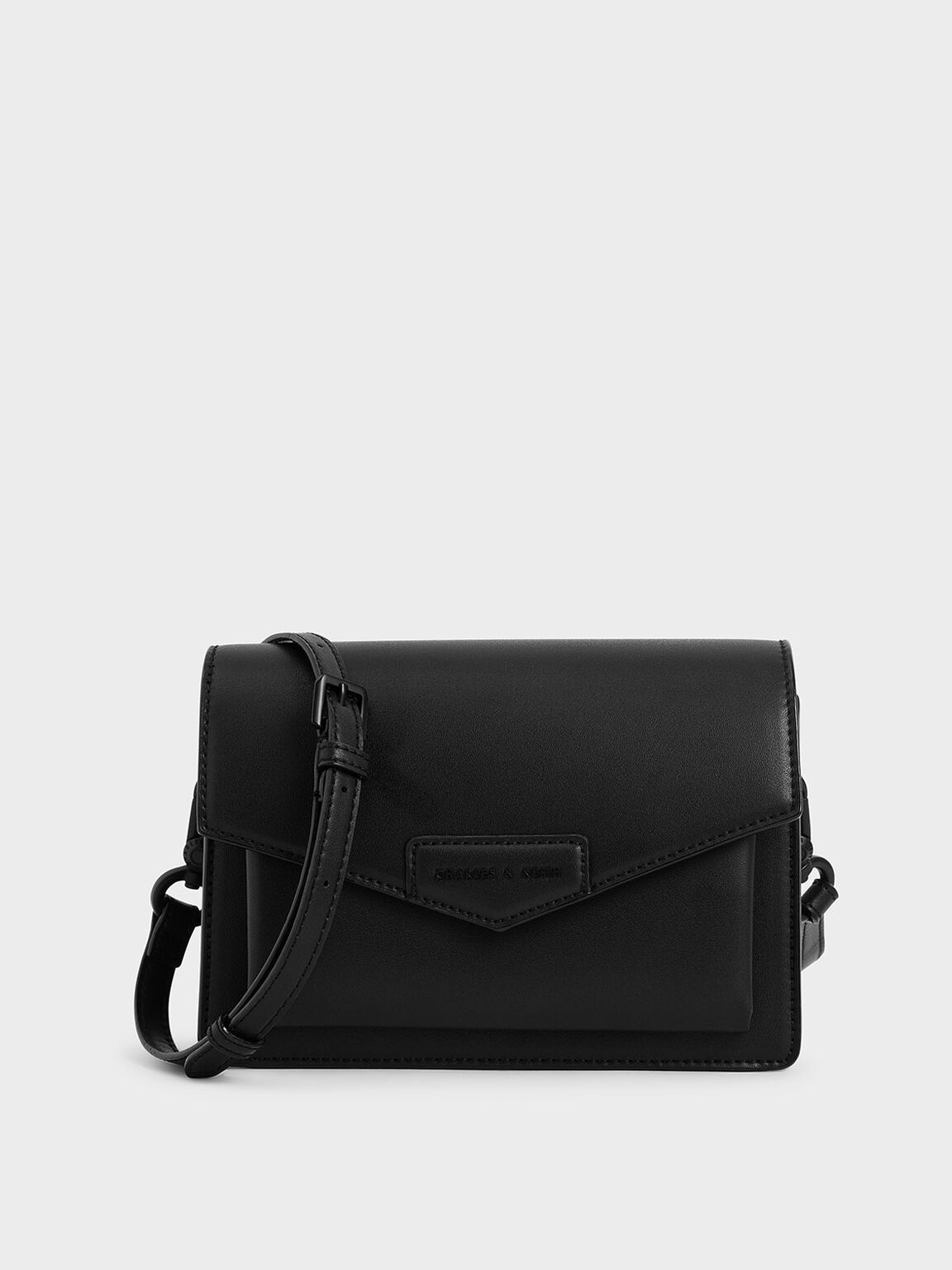 Envelope Crossbody Bag, Ultra-Matte Black, hi-res