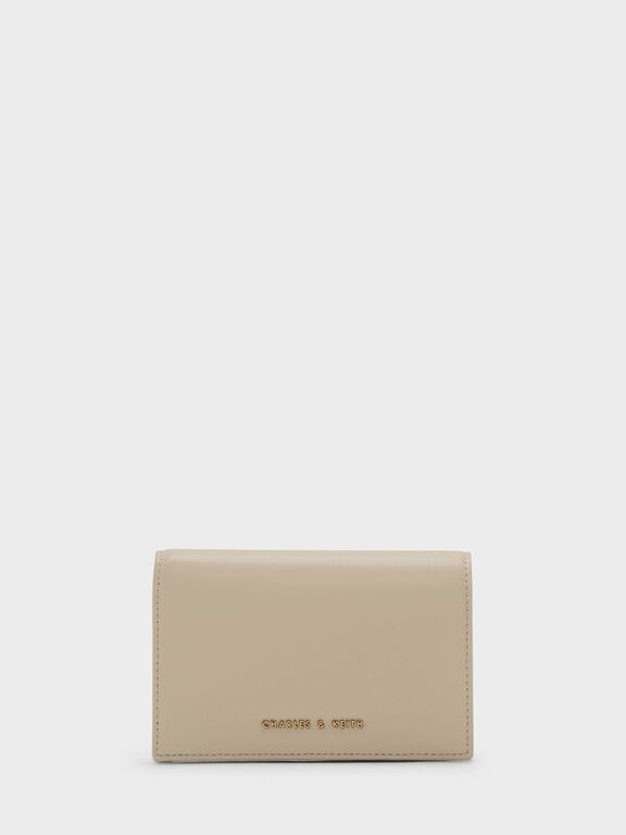 Snap Button Wallet, Ivory