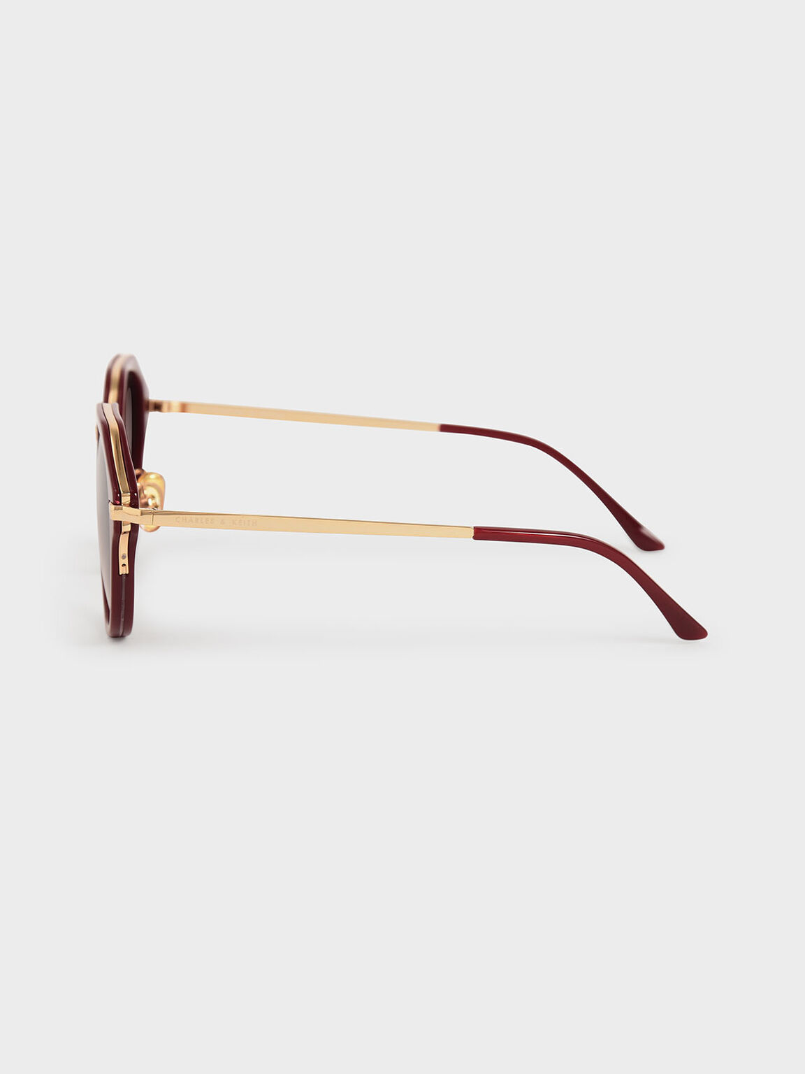 Geometric Sunglasses, Burgundy, hi-res