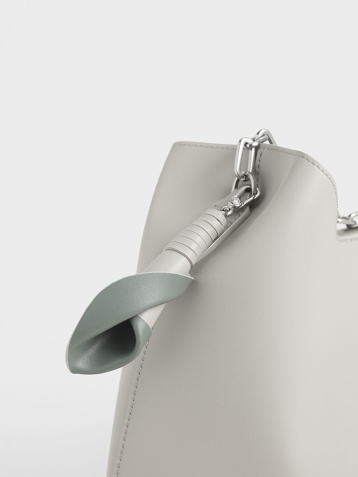 Large Chain Handle Hobo Bag, Chalk, hi-res