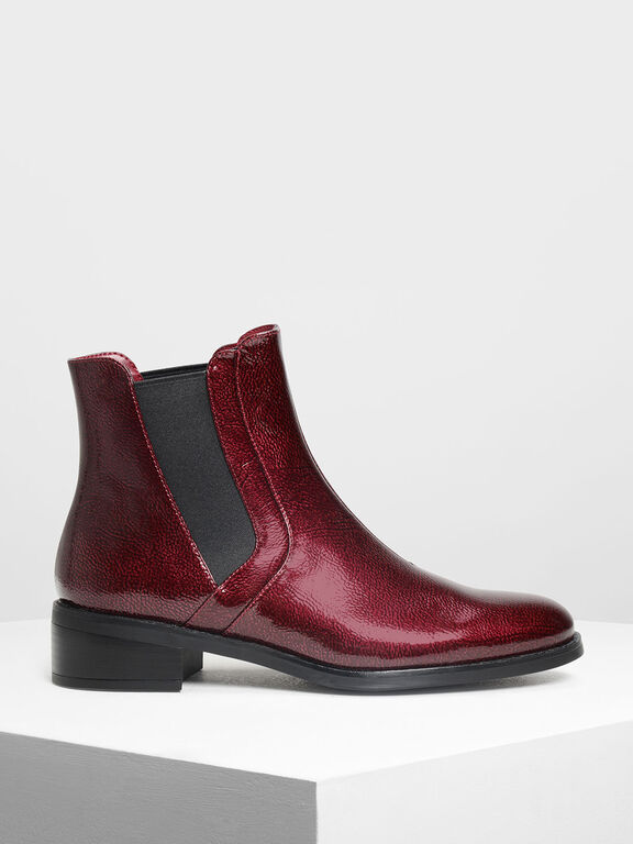 Classic Ankle Boots, Red