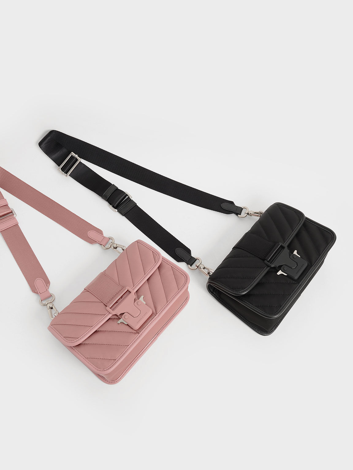 The Anniversary Series: Sonia Recycled Nylon Padded Bag, Pink, hi-res