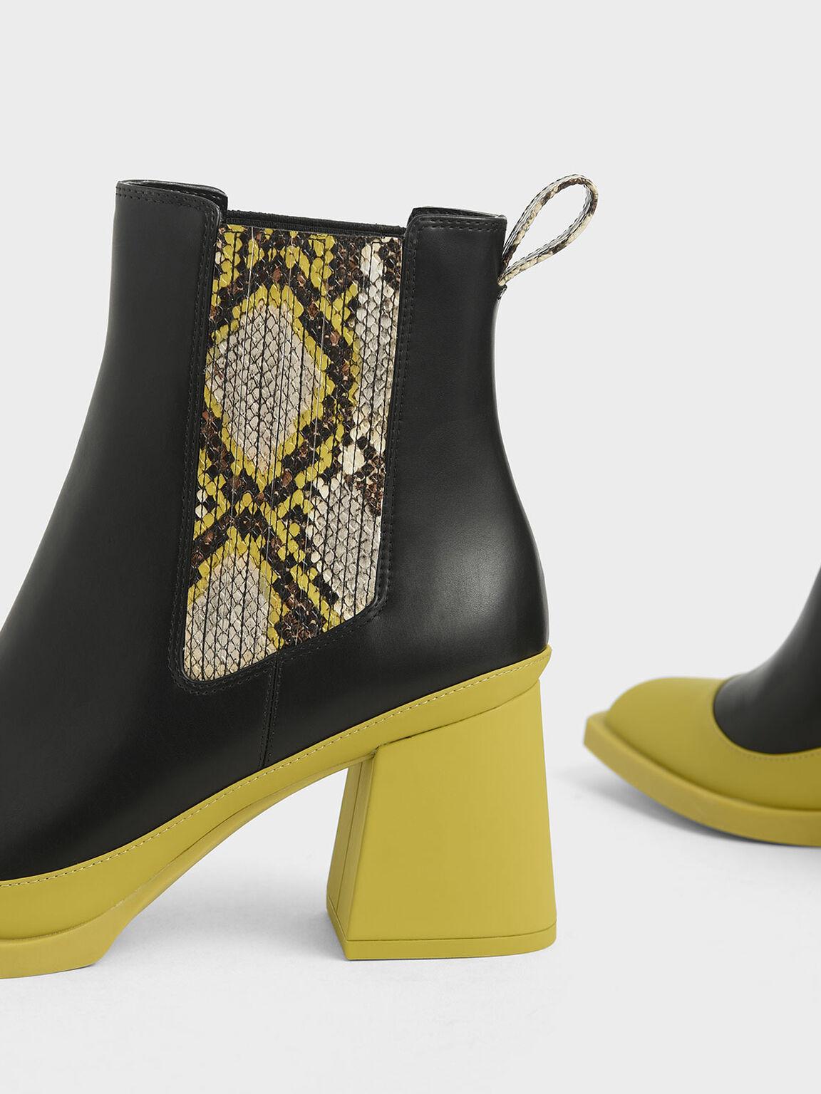 Snake Print Chelsea Boots, Multi, hi-res