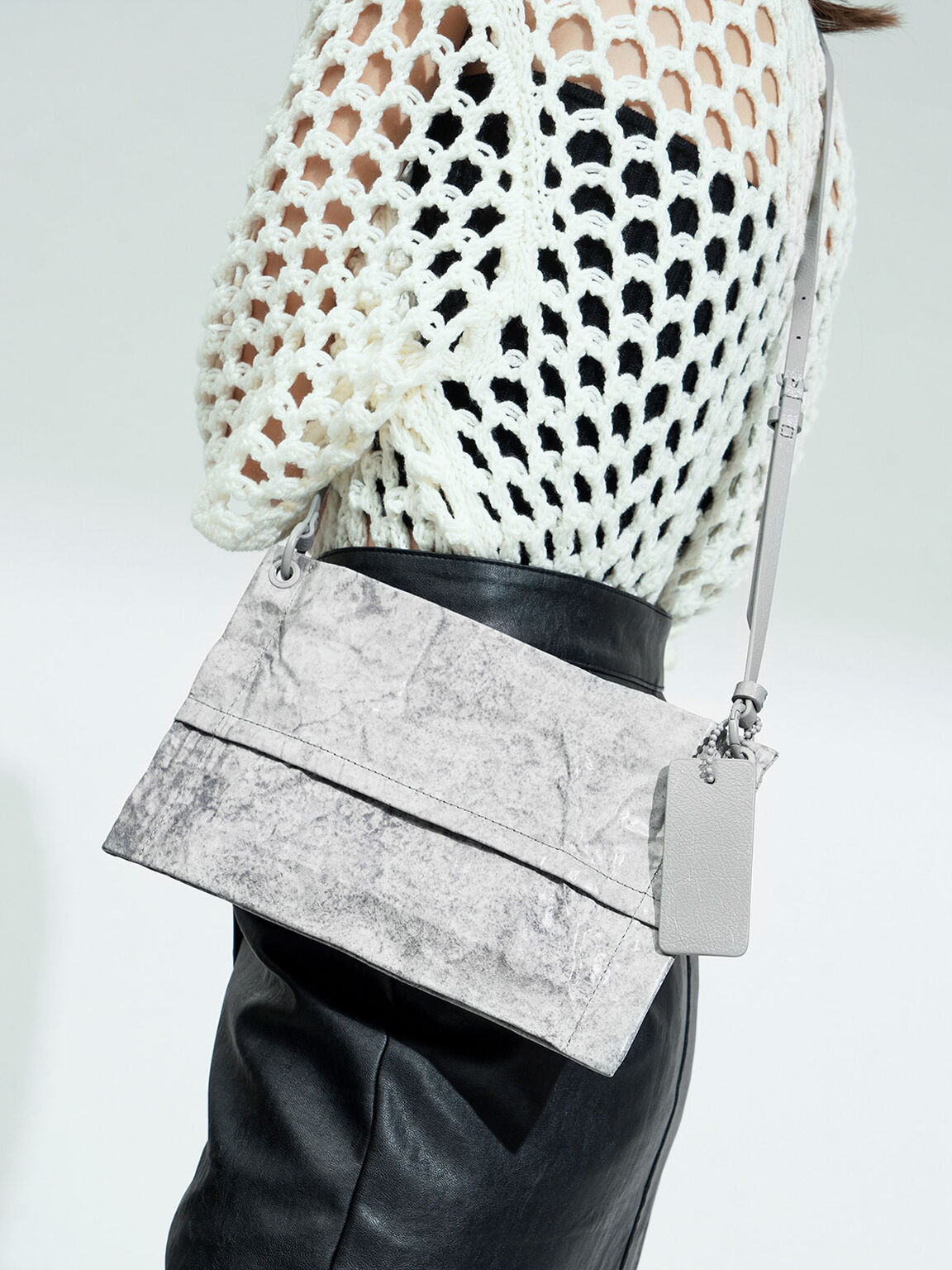 Zip Clutch, Grey, hi-res