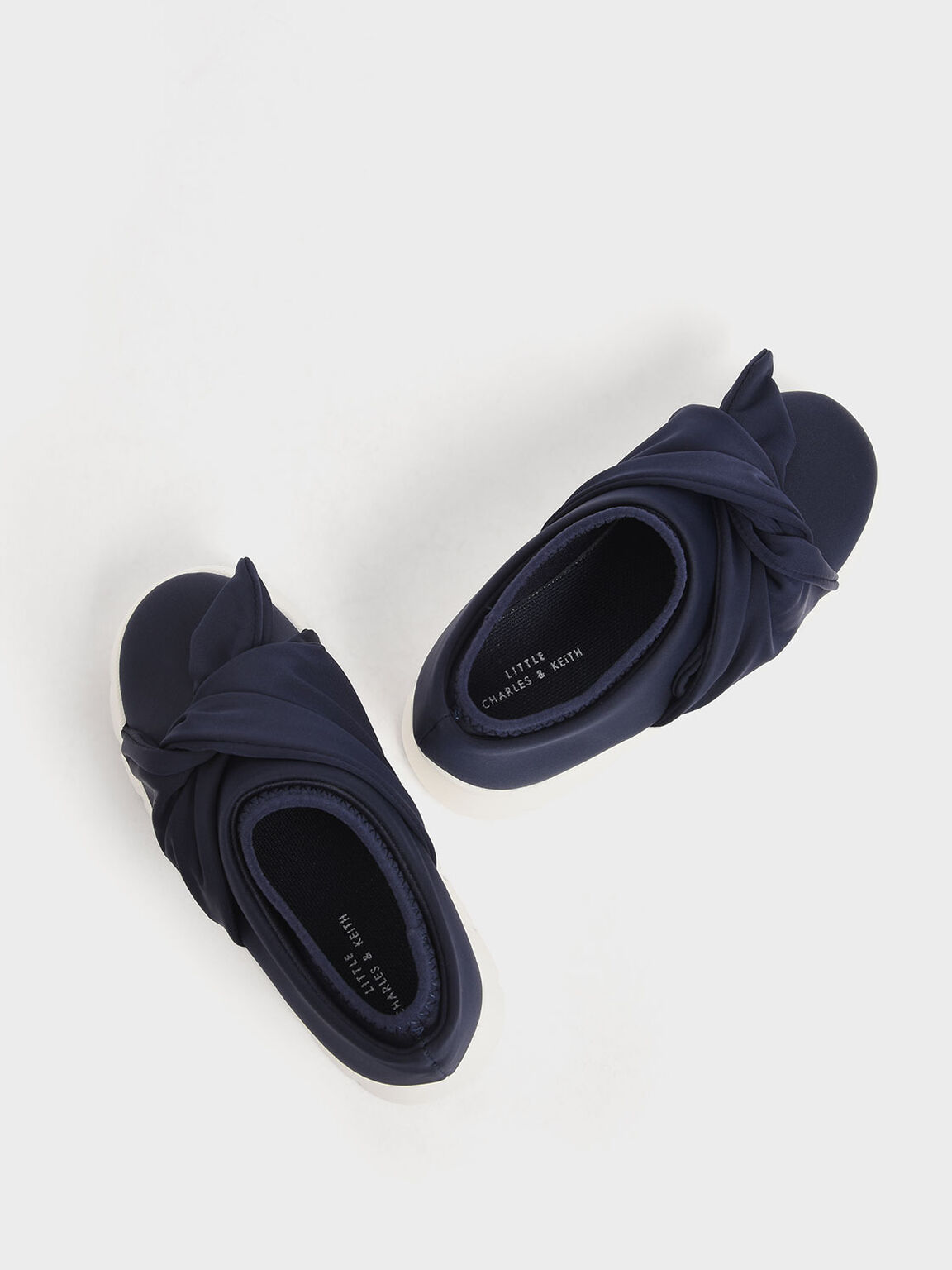 Girls' Neoprene Slip-On Sneakers, Dark Blue, hi-res